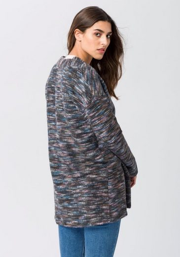 EDC by Esprit Longstrickjacke, mit offenem Design