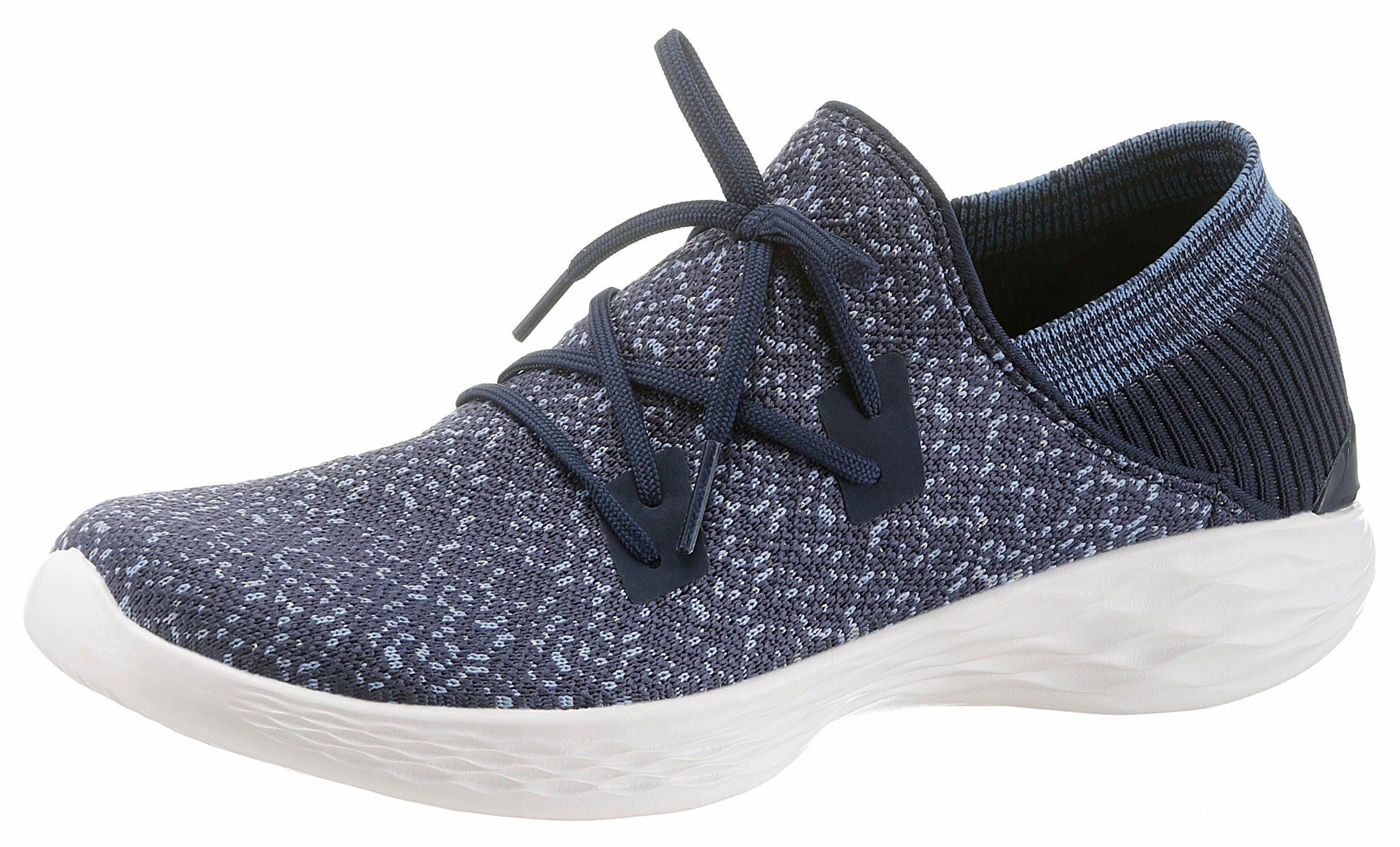 SKECHERS PERFORMANCE You - Exhale Slip-On Sneaker, mit aufgesetzter Schnürung online kaufen  navy-meliert