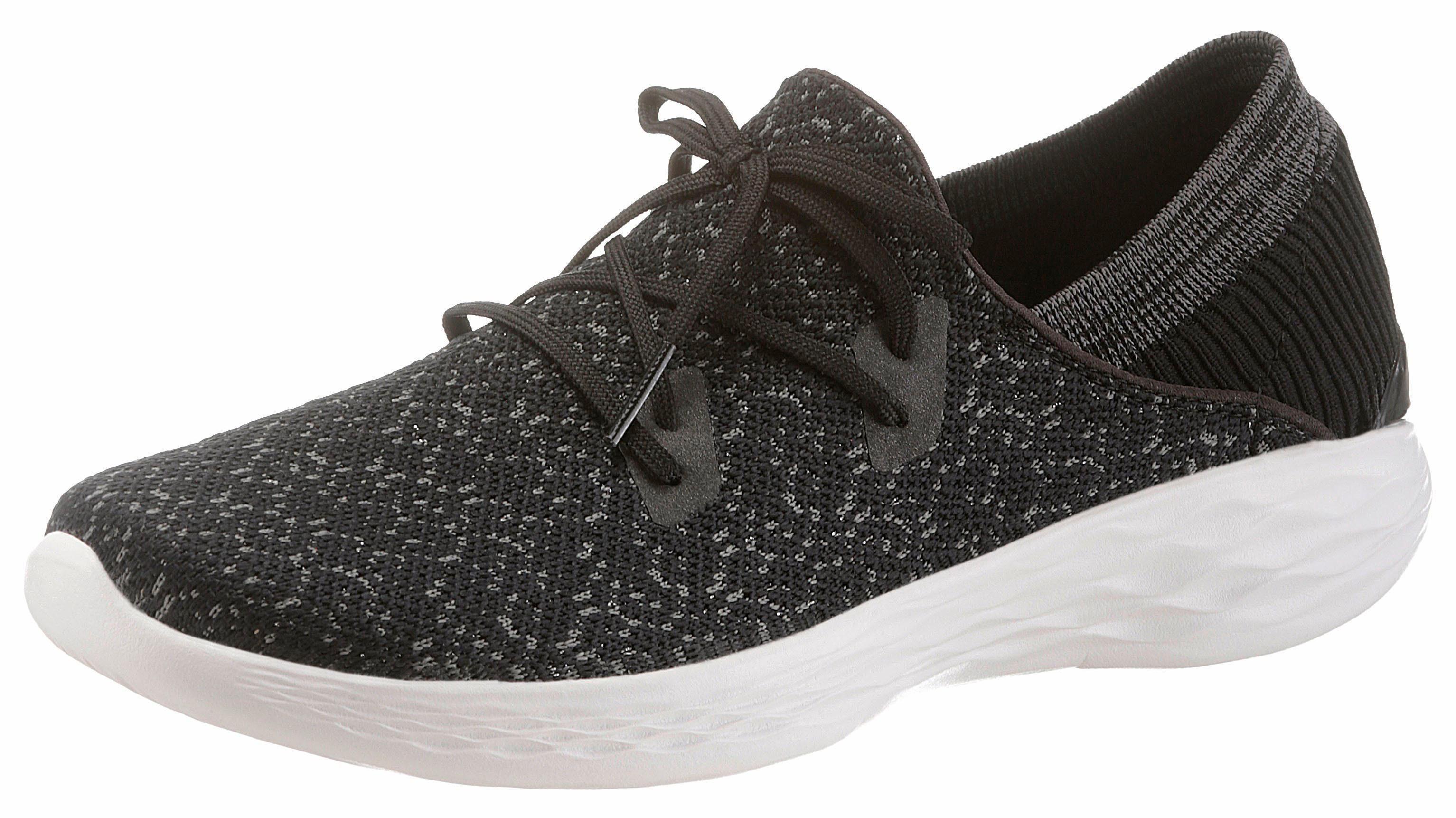 SKECHERS PERFORMANCE You - Exhale Slip-On Sneaker, mit aufgesetzter Schnürung online kaufen  schwarz-meliert