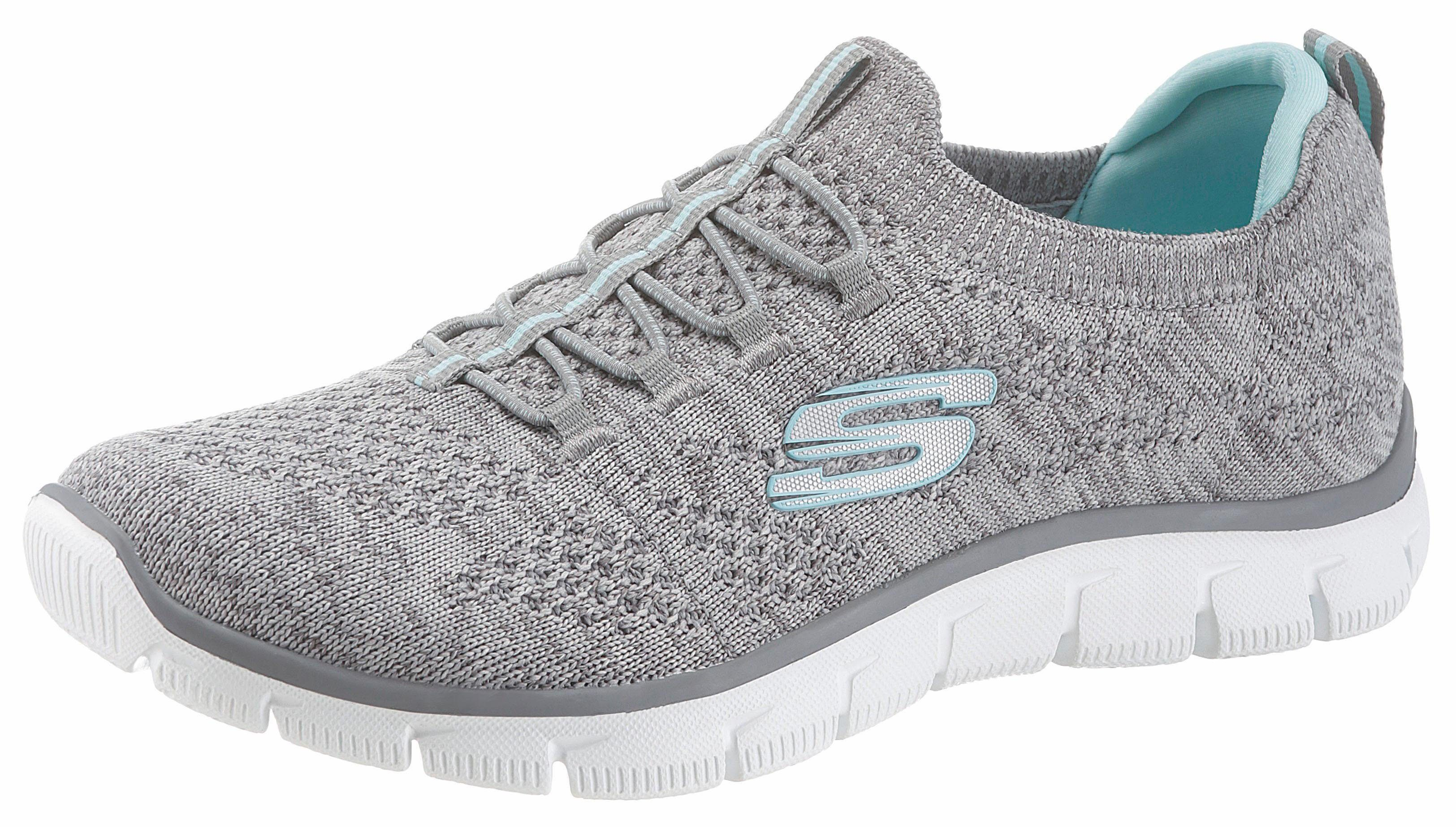 Skechers Empire - Sharp Thinking Slip-On Sneaker, mit Skech-Knit online kaufen  grau-hellblau