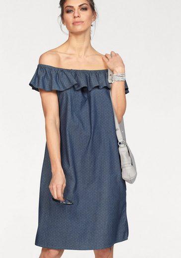 CLAIRE WOMAN Jeanskleid, Off-Shoulder
