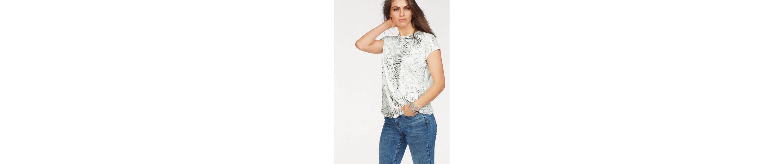 Laura Scott Rundhalsshirt, mit Metallicprint auf der Vorderseite