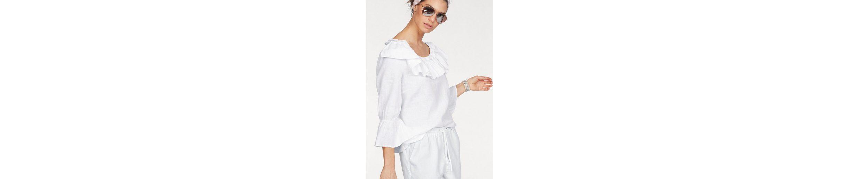 CLAIRE WOMAN Carmenshirt, mit Rüschen im Decolleté