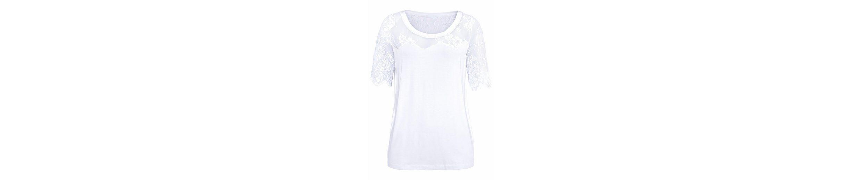 CLAIRE WOMAN T-Shirt, mit zarter Spitze