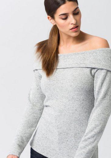 EDC by Esprit Carmenshirt, mit Carmenausschnitt und breitem Umschlag