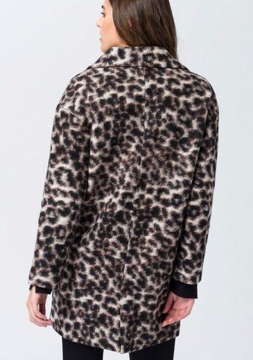 EDC by Esprit Wollmantel, mit Leopardenmuster