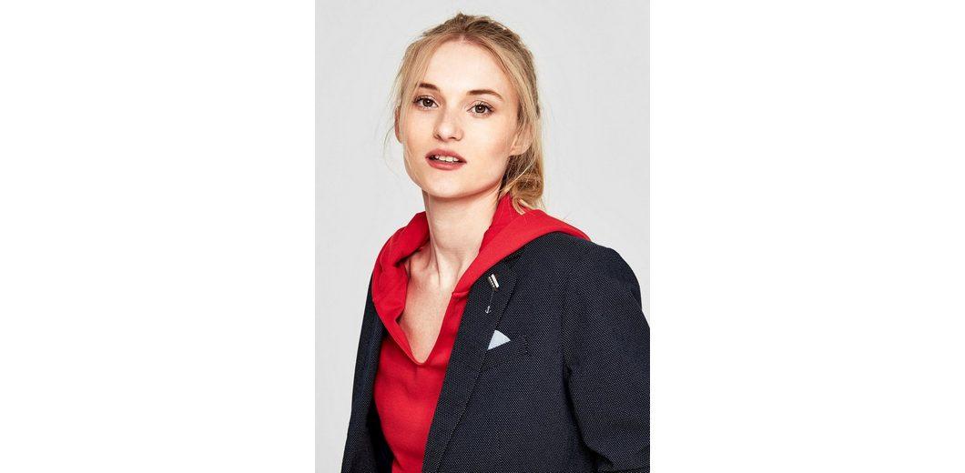 s.Oliver RED LABEL Taillierter Stretchblazer mit Ansteck-Pin Top-Qualität Günstig Online Eastbay Verkauf Online 2018 Neue ASgdx