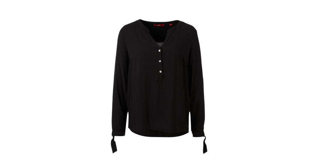 Kostenloser Versand s.Oliver RED LABEL Viskose-Tunika mit Knotendetail Online-Shopping-Original FsWnMFT62