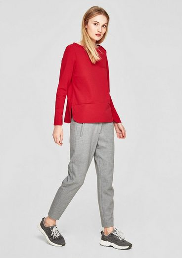 S.oliver Red Label Interlock-shirt With Boat Neck