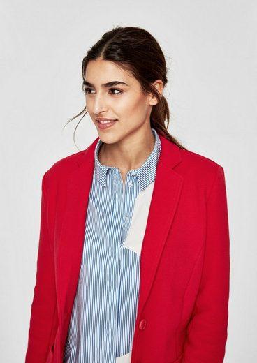 S.oliver Red Label Sweatjacke Im Blazer-look