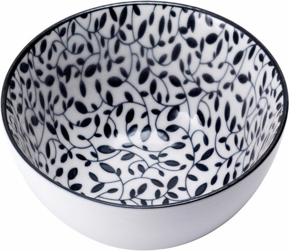 van well m slischale porzellan 6 st ck black leafs online kaufen otto. Black Bedroom Furniture Sets. Home Design Ideas