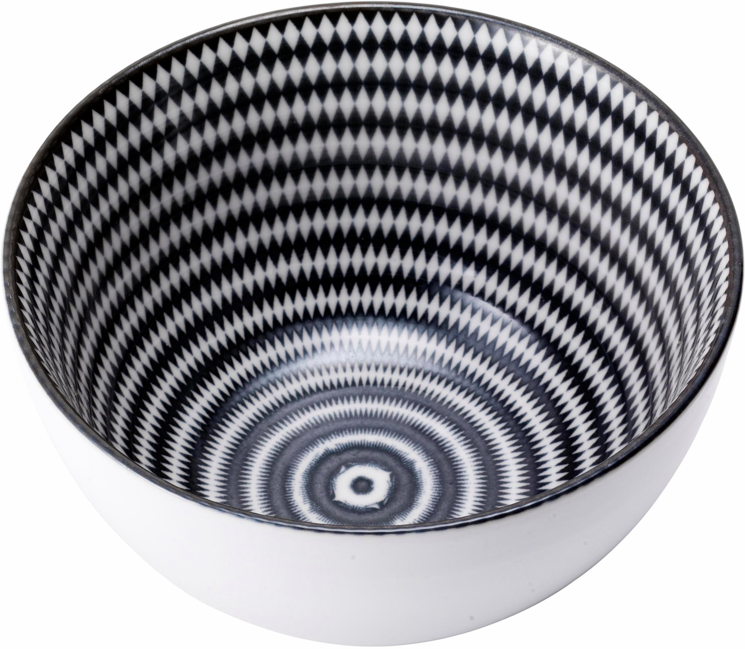 van Well »Black Circle« Müslischale, Porzellan, (Set, 6 tlg), mikrowellengeeignet
