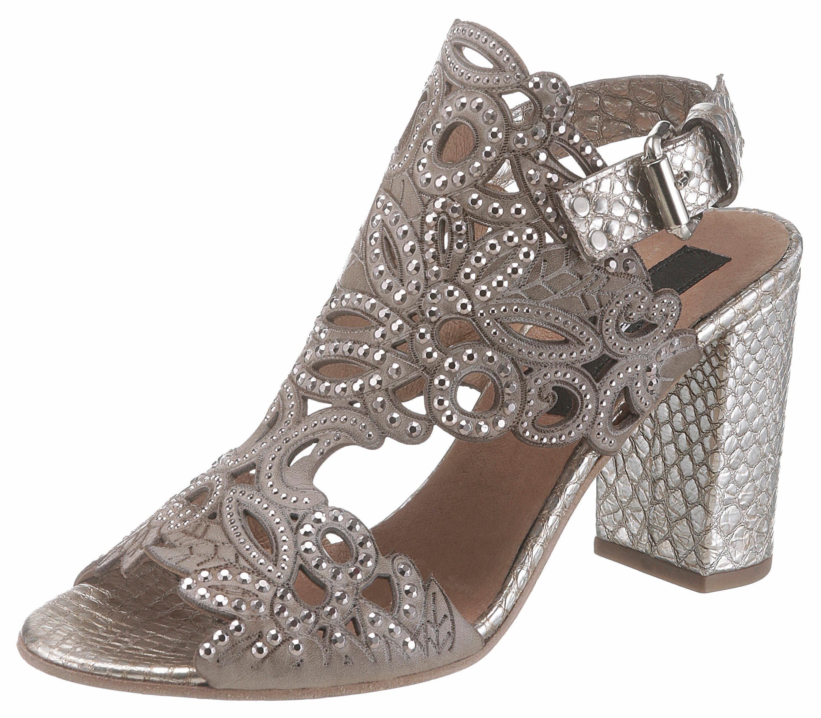 MIMMU Sandalette, in auffälliger Optik kaufen  taupe-silberfarben