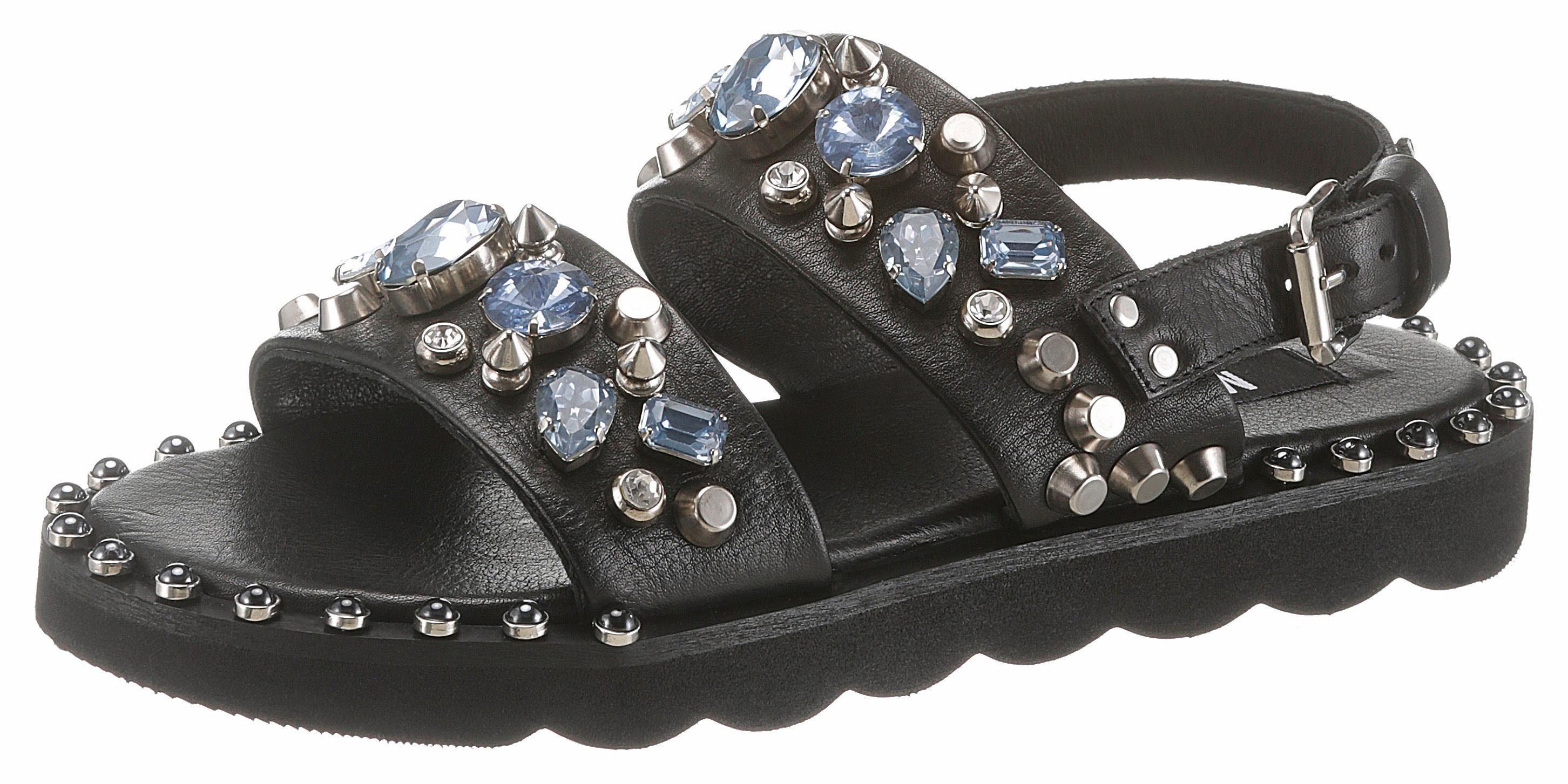 MIMMU Sandale, mit rockigen Nieten online kaufen  schwarz