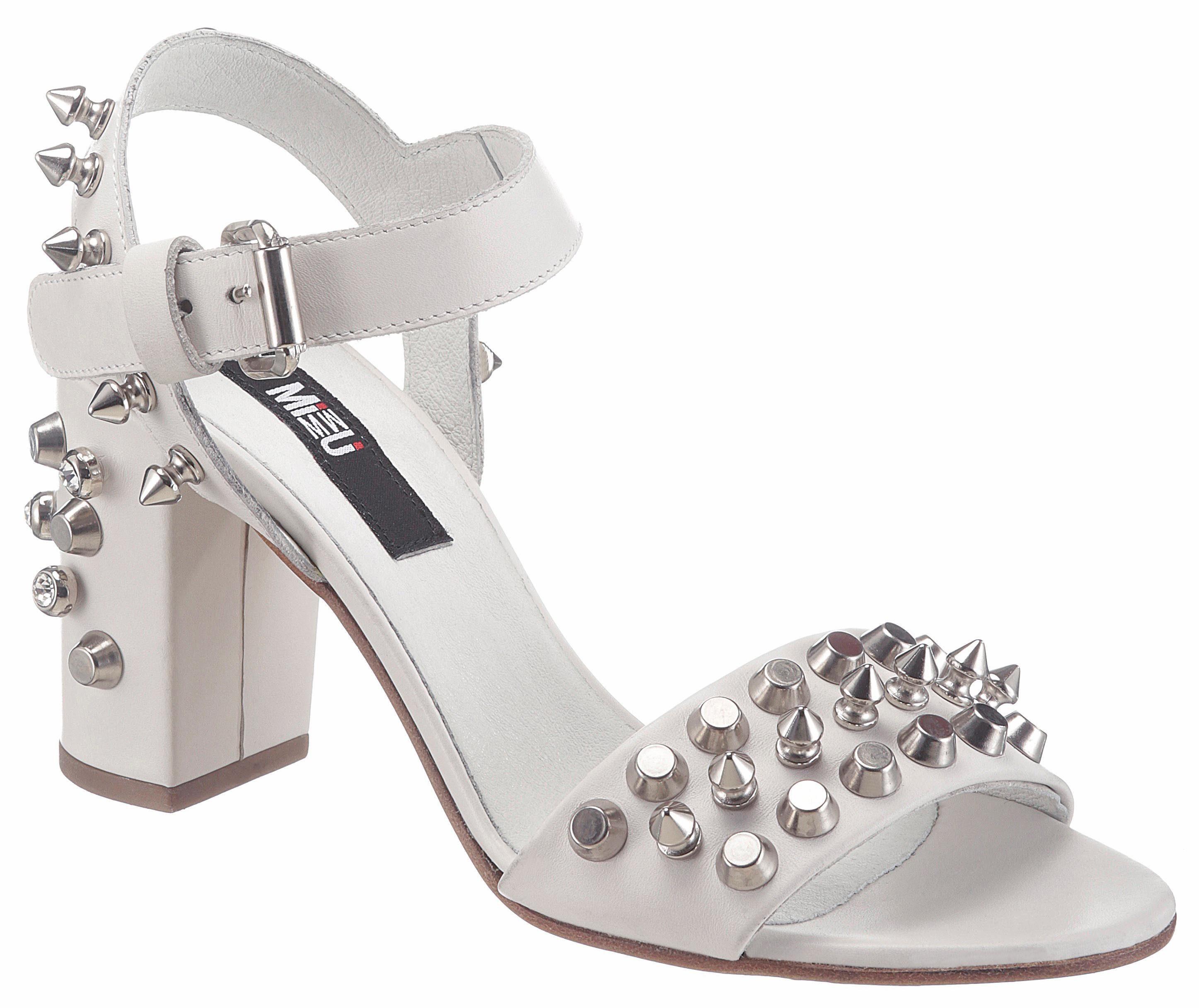 MIMMU Sandalette, mit rockigen Nieten kaufen  weiß