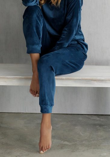 LASCANA Loungehose aus weichem Nicki