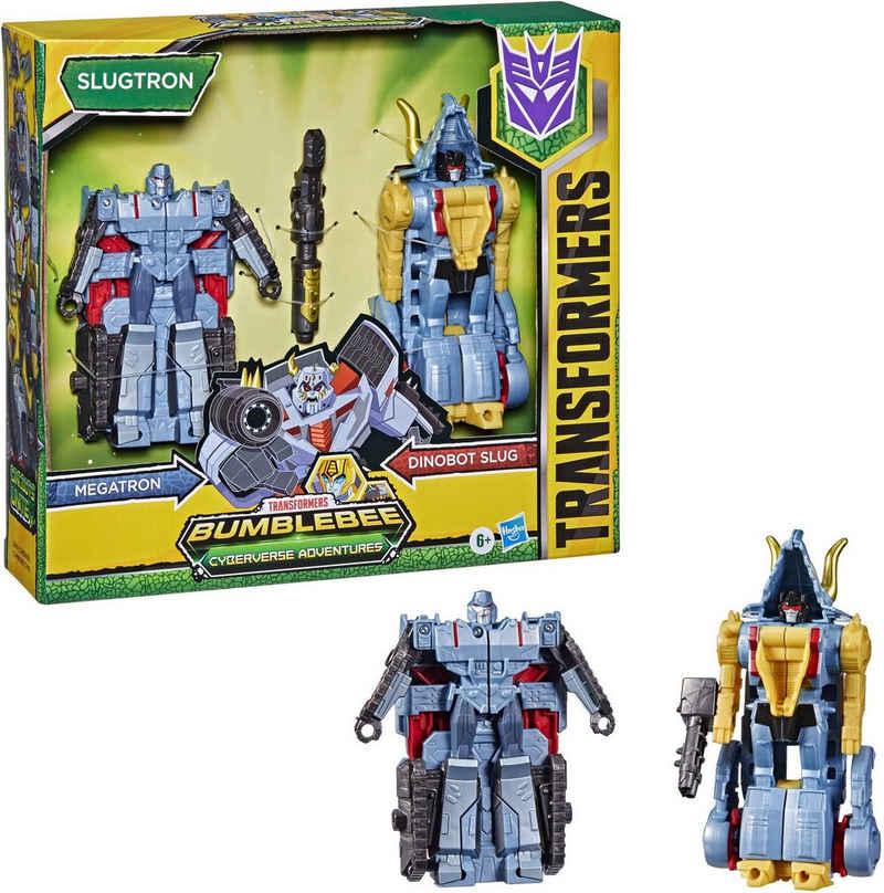 Hasbro Actionfigur »Transformers Bumblebee Cyberverse Adventures - Dino Combiners Slugtron«, (2-tlg)