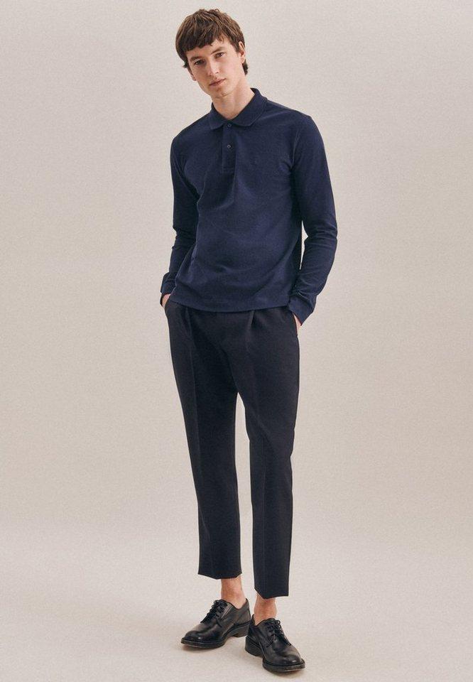 seidensticker -  Poloshirt »Shaped« Langarm Kragen Uni
