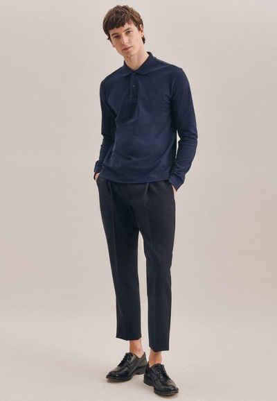 seidensticker Poloshirt »Shaped« Langarm Kragen Uni