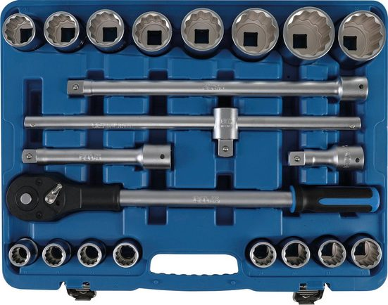 BGS Stecknüsse, Set, 21-St., Antrieb 20 mm (3/4)