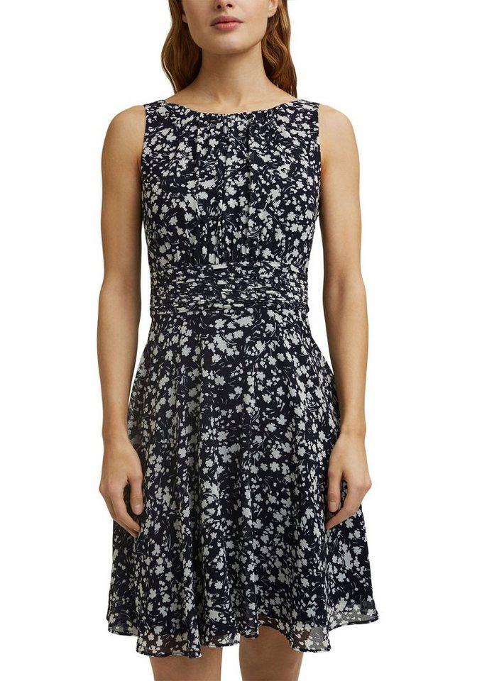 Festtagsmode - Esprit Collection Cocktailkleid mit femininem Rückenausschnitt › blau  - Onlineshop OTTO