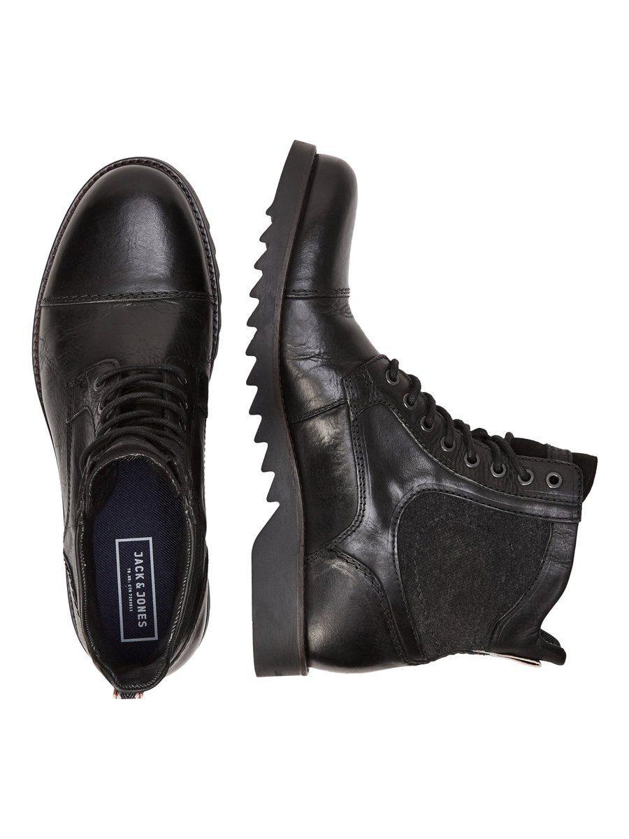 Jack & Jones Leder- Stiefel online kaufen  Anthracite