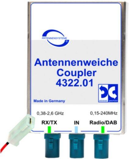 Antenne Bad Blankenburg Zubehör »Antennenweiche AM/FM/DAB+ und GSM900/1800/TETRA«
