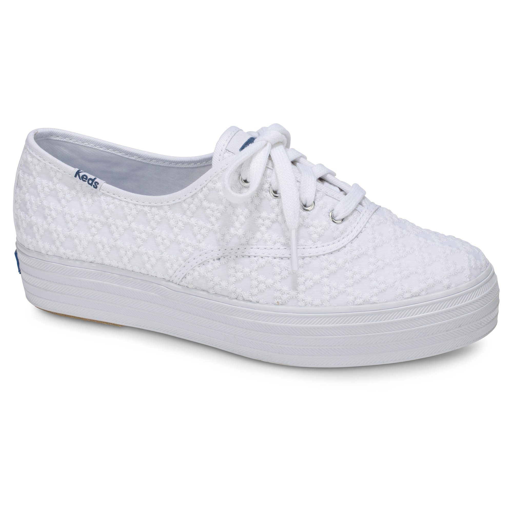 Keds »Triple Embroidered Triangle« Plateausneaker, weiß, weiß