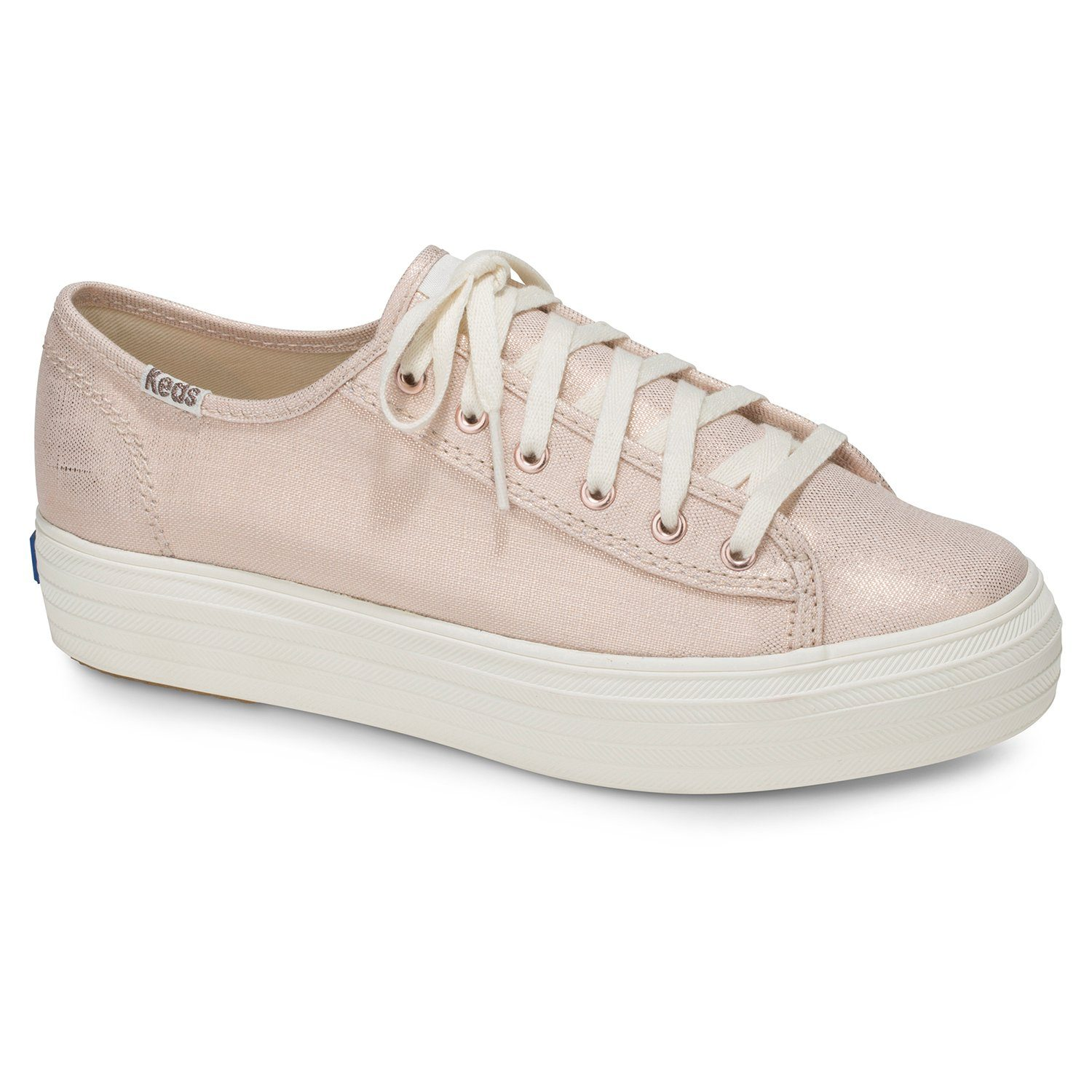 Keds »Triple Canvas Stripe Foxing« Plateausneaker, goldfarben, goldfarben