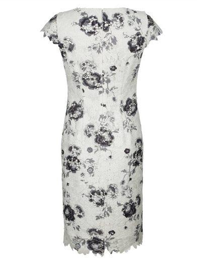 Alba Moda Druckkleid aus bedruckter Spitze