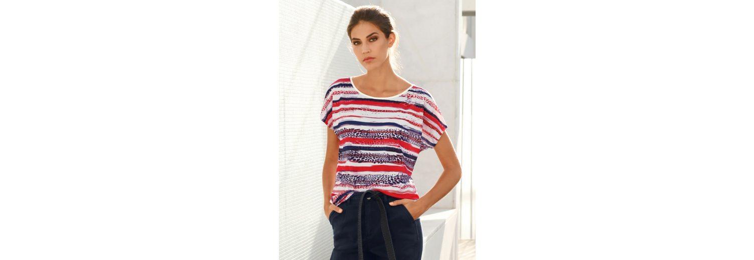 Amy Vermont Shirt Im Streifendessin und Leodruck Günstig Kaufen Niedrigen Preis Auslasszwischenraum Store Verkauf Websites Shop-Angebot Online tqEKnhF