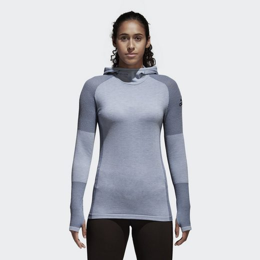 adidas Performance Sporttop Climaheat Primeknit Hooded Longsleeve