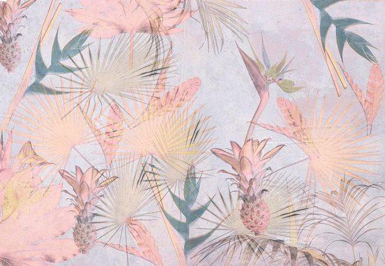Komar Fototapete »Tropical Concrete 8er«, glatt, naturalistisch