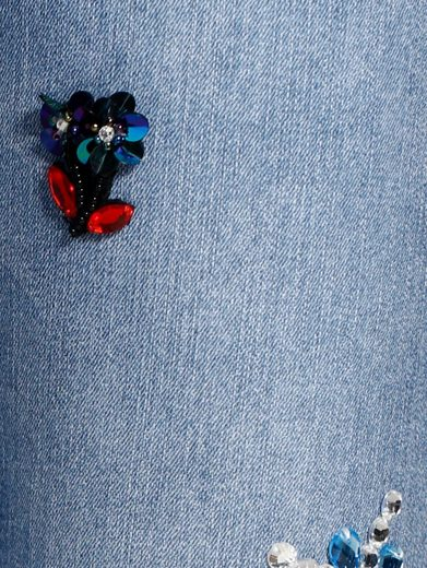 Alba Moda Jeans mit Blumenappliationen aus Schmucksteinen