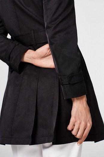 ESPRIT Femininer Trenchcoat aus Baumwoll-Mix