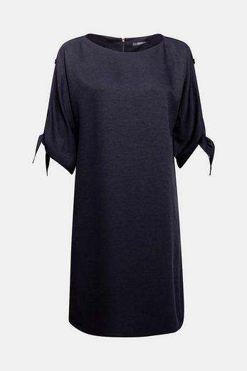 ESPRIT COLLECTION Struktur-Kleid mit verzierten Ärmeln