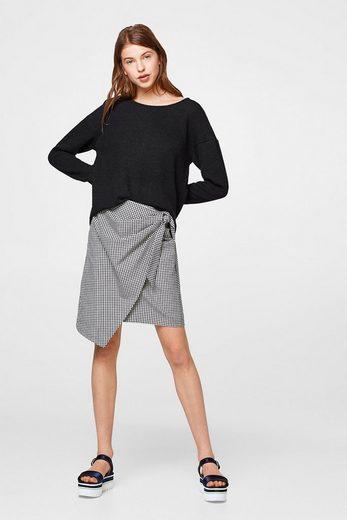 ESPRIT Softer Pullover mit rückseitiger Schleife