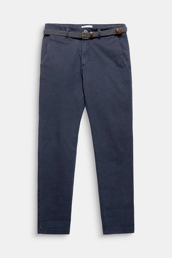 ESPRIT Stretch-Chino mit Allover-Print