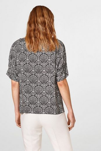 ESPRIT COLLECTION Leichte Bluse mit Ornament-Print