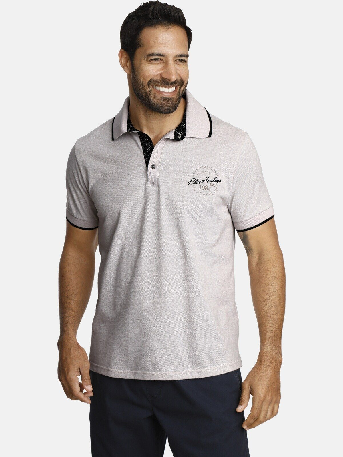 68//70 Gr Herren Pikee Poloshirt Shirt Grau 4XL