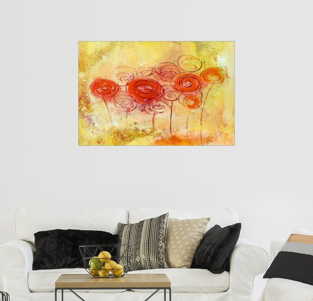 Posterlounge Wandbild - Tina Melz »Be happy«