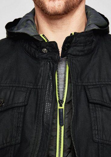 s.Oliver RED LABEL Robuste Canvas-Jacke mit Wasch-Effekt