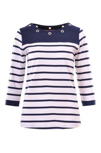 NAVIGAZIONE Rundhalsshirt, modisches Shirt, angenehmes Tragegefühl, maritimer Look