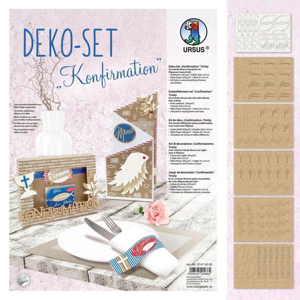 """URSUS Deko-Set """"Konfirmation"""" 6 Blatt kaufen"""