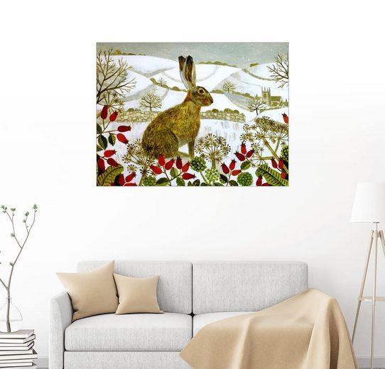 Posterlounge Wandbild - Vanessa Bowman »Hase im Winter«