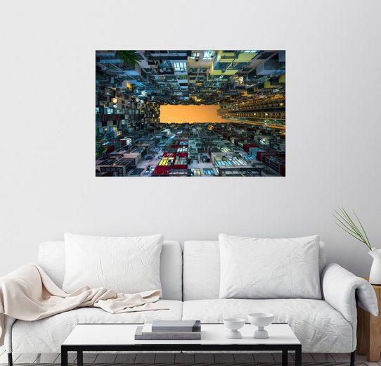 Posterlounge Wandbild - Jan Christopher Becke »Hochhäuser in Hong Kong«