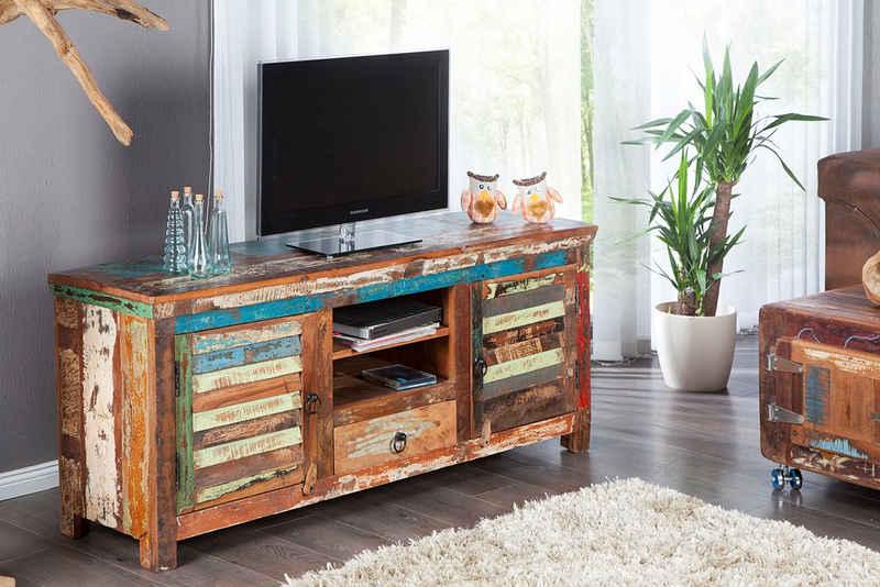 riess-ambiente Lowboard »JAKARTA 150cm bunt«, recyceltes Massivholz · TV-Board · Handarbeit · Wohnzimmer