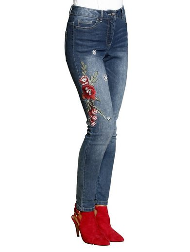 Alba Moda Jeans With Embroidery And Ornamental Stones