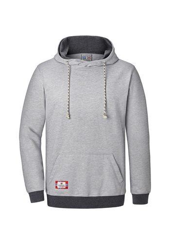 Herren Jan Vanderstorm Kapuzensweatshirt BLANKARD mit asymmetrischem Kragen grau | 04056916306336