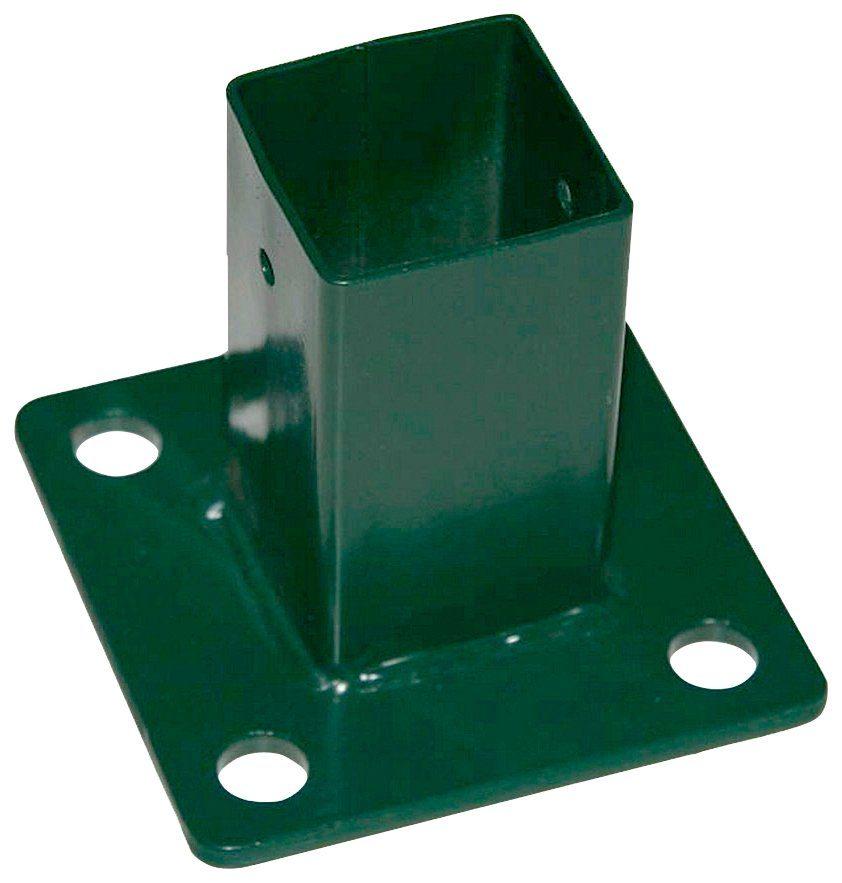 PEDDY SHIELD Pfostenträger , Montageplatte, 40x40 mm, grün